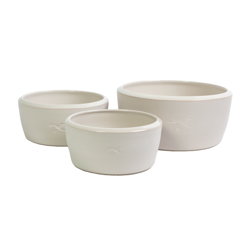 Ceramic dog bowl – white