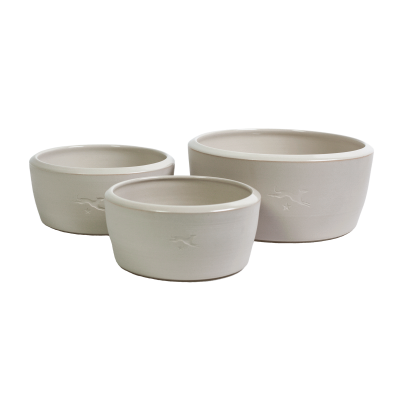 Ceramic dog bowl – natural colour
