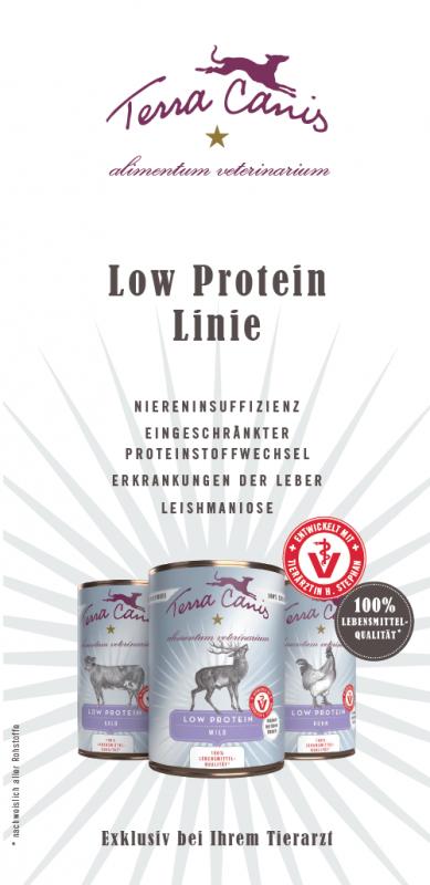 Einzelbroschüre Low Protein, Din Hoch Folder, AliVet