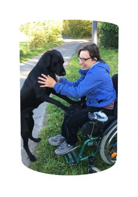Virtuelle Spendendose VITA e.V. Assistenzhund – Juliane & Kermit