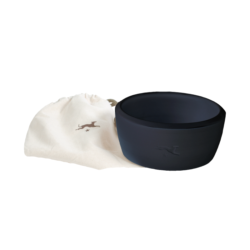 Keramik-Hundenapf – Schwarz