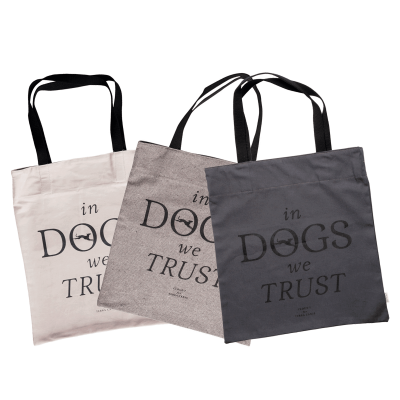 Canvas shopper « In DOGS we TRUST »