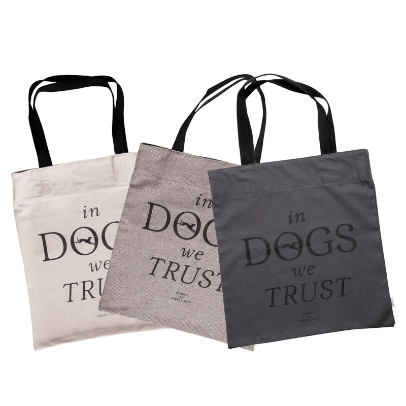 "Canvas Shopper ""In DOGS we TRUST"""