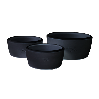Ceramic dog bowl – black
