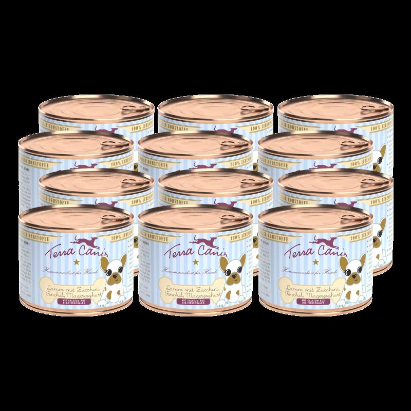Lamm mit Zucchini, Fenchel und Magerjoghurt