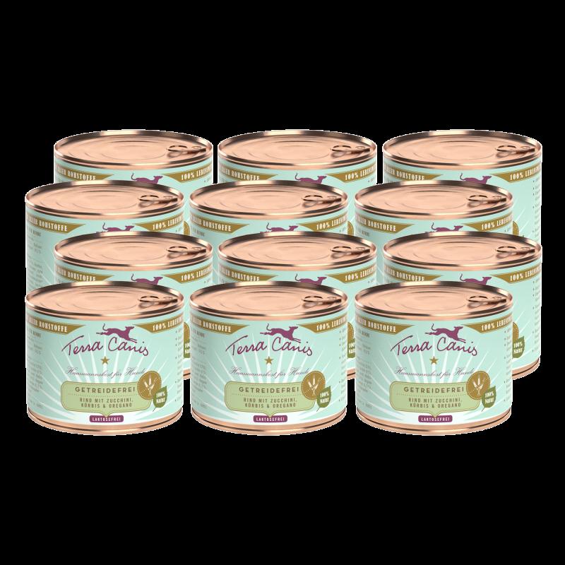 Rind mit Zucchini, Kürbis und Oregano