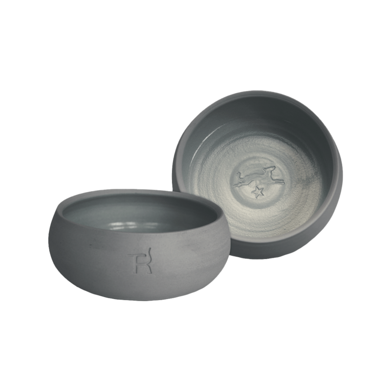 Ceramic dog bowl – anthracite