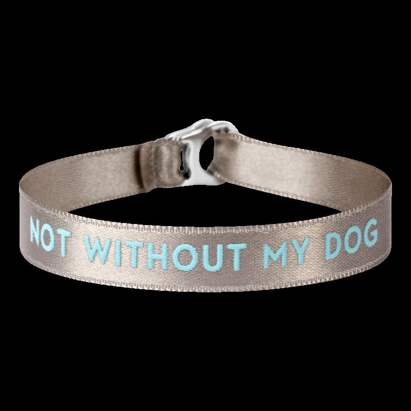 """Armband """"not without my dog"""""""